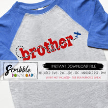 brother of the birthday boy airplane theme clipart. SVG DXF vinyl cut file DIY printable iron on shirt PDF sibling bro brother new baby big brother. airplane plane theme matching birthday shirts. cute popular vinyl cut file for silhouette cricut safe secure fast digital download.