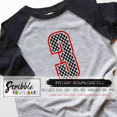 Car Birthday 3 svg cars theme 3 bday iron on racecar third 3rd birthday svg party boy car checkered flag svg kids cut shirt cricut silhouette popular cute cars shirt iron on transfer printable digital download 3 3rd three third