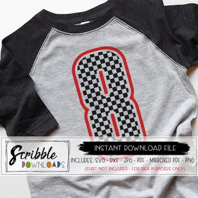 8 8th Birthday svg iron on shirt car cars racing flag checkered cute popular 8th bday vector file silhouette cricut download dxf vinyl cut file clipart popular cute iron on transfer shirt DIY printable