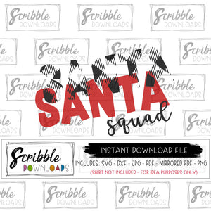 Santa Squad SVG peel apart vinyl heat transfer vinyl silhouette cricut iron on transfer printable