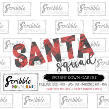 Santa Squad SVG DXF cut file silhouette cricut digital download instant printable iron on transfer graphic shirt buffalo plaid matching cousin family SVG