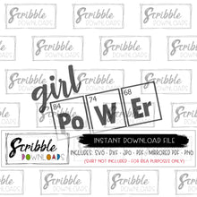 girl power svg science girls svg dxf silhouette cricut vinyl cut file printable iron on transfer last minute gift shirt scientist biology chemistry physics school teacher student geek nerd svg dxf pdf png jpg