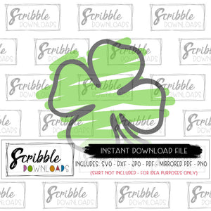 clover svg lucky shamrock leprechaun clipart svg dxf pdf png jpg cut file cricut silhouette easy fast instant digital download st patrick's day iron on transfer shirt printable last minute free commercial use sublimation DIY craft st patty's march green good luck popular kids cute teen adult mom party shirt iron on
