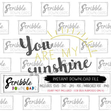 You are my sunshine digital download free limited commercial use SVG DXF PDF PNG JPG easy to use, fast safe secure paypal payment vector clipart cut file cricut design space new craft project
