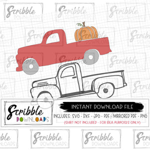 old fashioned layered SVG dxf antique truck svg dxf cricut silhouette cut file make iron on shirt youreself digital printable instant download easy to use