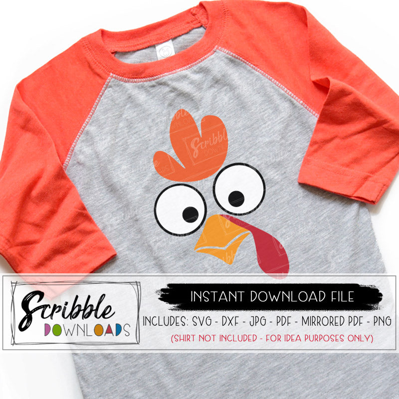 5f7dd394 turkey face funny svg dxf jpg png kids cute popular cut file for silhouette  cricut cameo · goofy turkey face for kids thanksgiving shirt ...