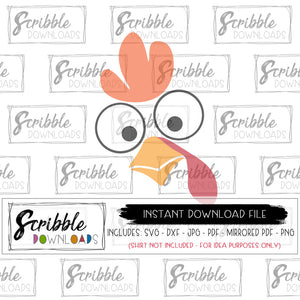 turkey face kids thanksgiving DIY shirt svg dxf cut file for vinyl cricut design space or cameo silhouette iron on transfer design printable PDF goofy funny cute free commercial use turkey gobble thanksgiving thankful holiday SVG HTV easy fast safe secure thanksgiving SVG cricut silhouette best seller last minute gift matching shirts holiday scribble download digital download vector