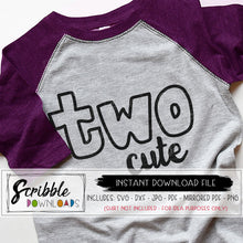 two cute svg 2 2nd second two cut file birthday shirt Cricut Silhouette cut file heat transfer vinyl craft DIY iron on transfer shirt printable 2nd bday boy girl kids toddler hand drawn popular fun sublimation clipart