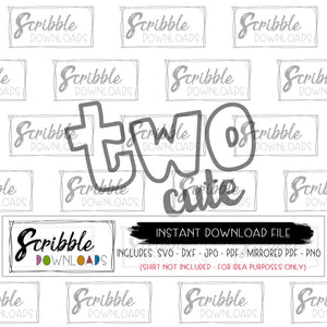 two cute svg 2 2nd second two Cricut Silhouette cut file heat transfer vinyl craft DIY iron on transfer shirt printable 2nd bday boy girl kids toddler hand drawn popular fun sublimation clipart free commercial use
