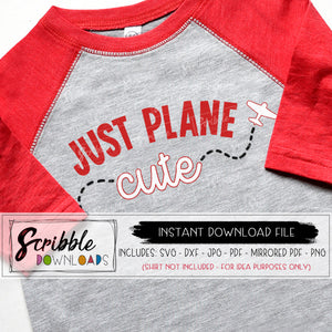 just plane cute SVG airplane Boy Valentine SVG cute toddler baby V-day gift iron on transfer digital download graphic SVG DXF PDF PNG JPG Cricut Silhouette cut file layered SVG vector clipart baby gift pilot airplane lover trendy cute popular