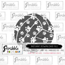 volleyball digital download paw print husky dog cat wildcat cougar tiger lion leopard SVG DXF PDF PNG JPG Mirrored PDF printable iron on shirt craft HTV vinyl cut file silhouette design space cricut compatible vector clipart free commercial use safe secure fast easy sports school team logo mascot volleyball cute