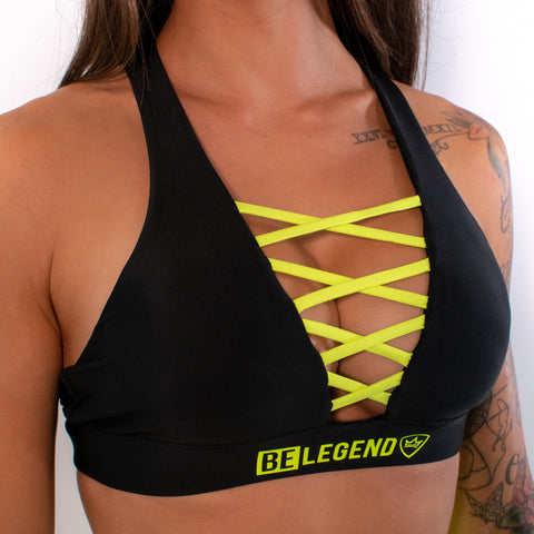 Sports Bra - Neon - Black Yellow