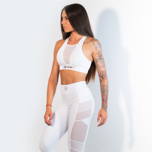 Sports Bra - Panther - White