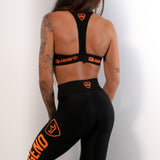 Sports Bra - Neon - Black Orange