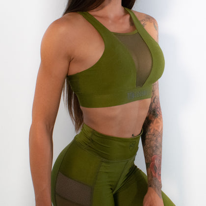 Sports Bra - Panther - Green