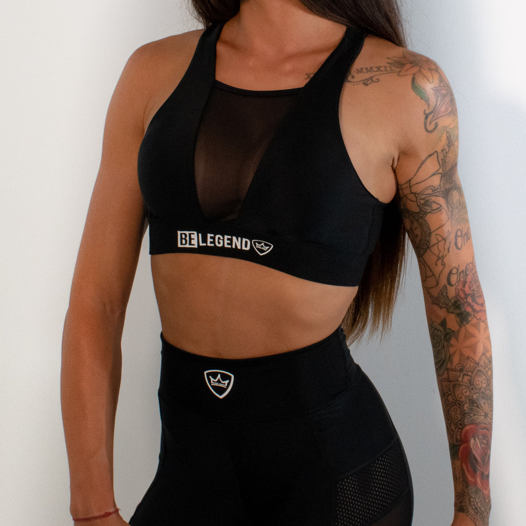 Sports Bra - Panther - Black