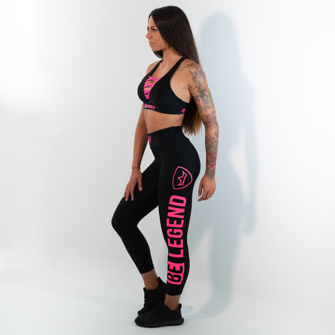 Leggings - Neon - Black/Pink