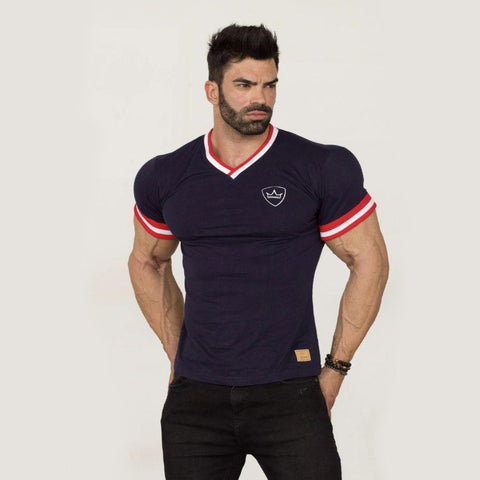 T-Shirt – Frank - Navy Blue