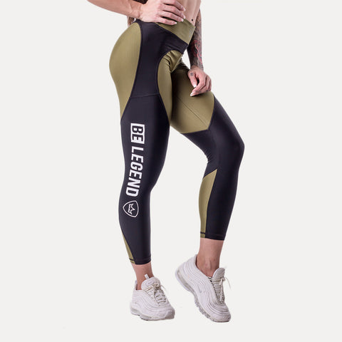 Leggings - Chloe - Green/Black