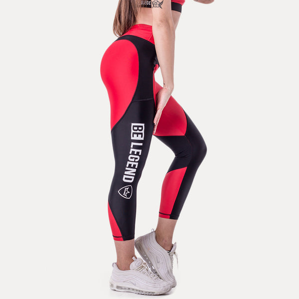 Leggings - Chloe - Red/Black