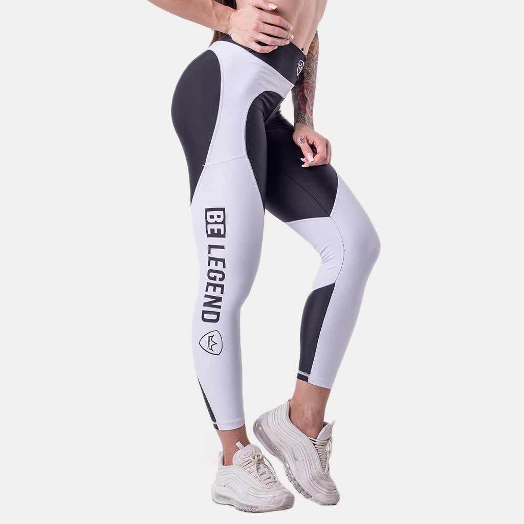 Leggings - Chloe - White/Black