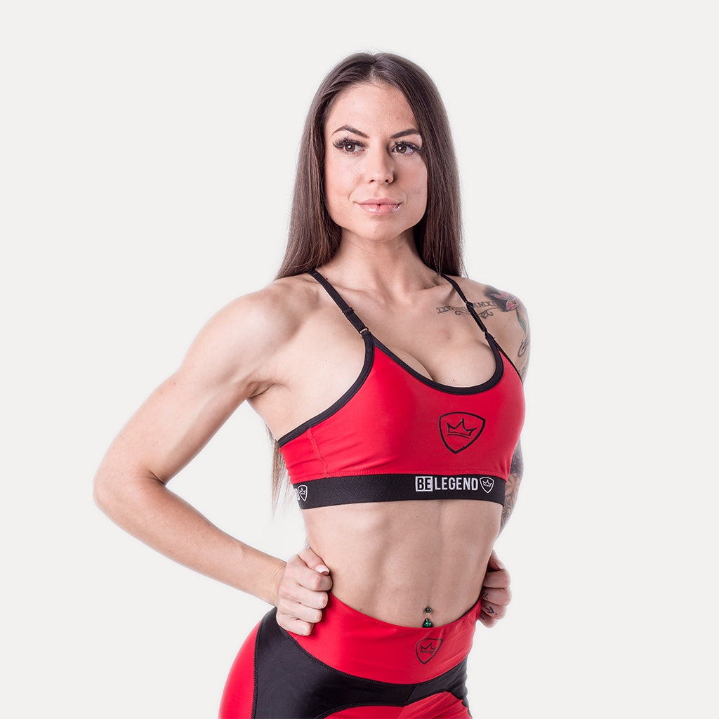 Sports Bra - Chloe - Red