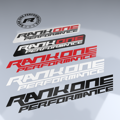 Rank One Performance Sticker Set