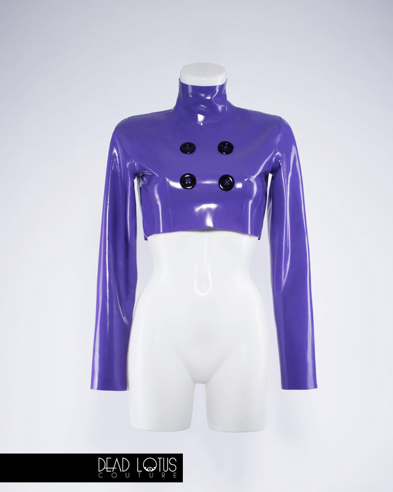 CELARIO Trousers and Top with Wrist Gloves Latex Set
