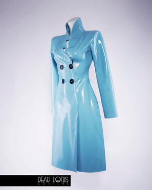 PLUVIA Latex Classic Trench Coat with Wrist Gloves