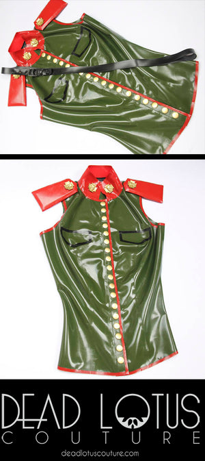 KAY Military Top with Chest Belt