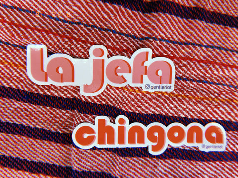 vinyl Jefa, Chingona sticker set