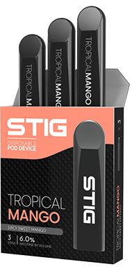 STIG Disposable Pods - Tropical Mango 3 Pack