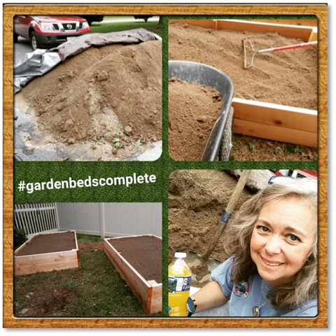 Filling a raised garden bed