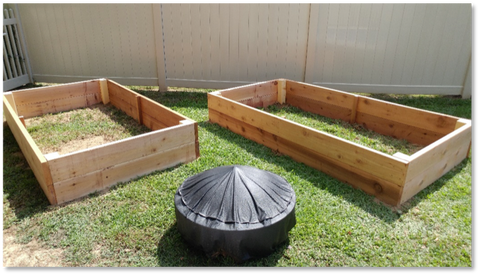 Homemade Cedar Raised Garden Beds