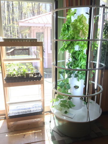 seed starting shelf indoor hydroponic system