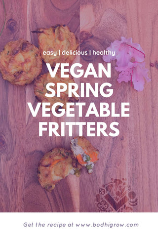 Vegan Spring Vegetable Fritters