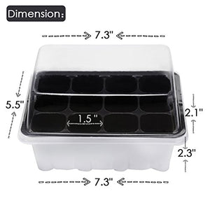 Seed Starting Trays (Set of 10 trays with 12 cells each)