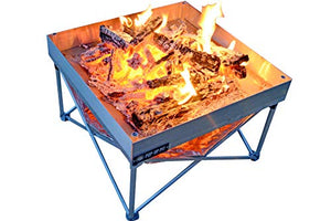 Pop-Up Fire Pit - Portable Outdoor Fire Pit for Patio, Backyard, or Backwoods. Clean Burn Tech, Less Smoke!