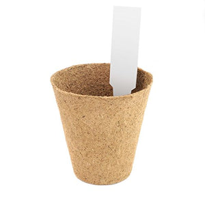 "4"" Peat Seed Starting Pots (pack of 30 with BONUS 10 Plastic Plant Markers)"