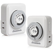 Indoor Mechanical Outlet Timer (2 pack)
