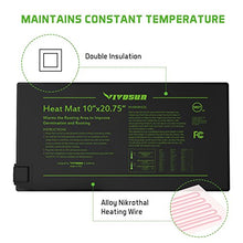"Seedling Heat Mat / Hydroponic Heating Pad 10"" x 20.75"""