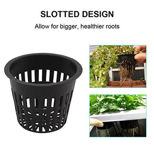 3 Inch Hydroponic Slotted Mesh Net Cups (12 pack)