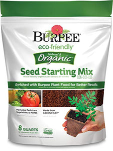 Burpee Eco Friendly Seed Starting Mix 0.06-0.03-0.03, 8 Qt, Organic