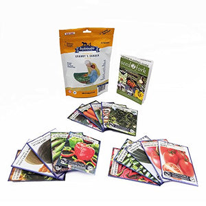 Heirloom Vegetable Seed Collection (15 Varieties, Non GMO)
