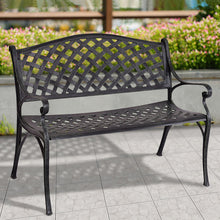 "40"" Outdoor Antique Metal Garden Bench"