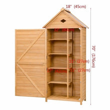 Single Door Outdoor Garden Storage