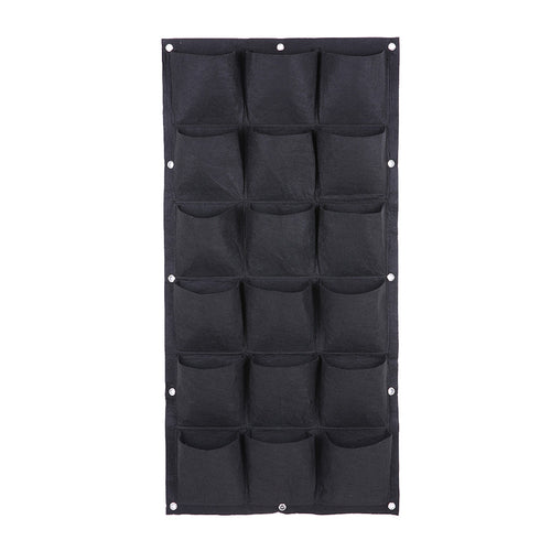 Vertical Garden Planter (black, 18 pockets)