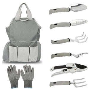 Gardening Tool Set with Heavy Duty Storage Bag (8 pieces)