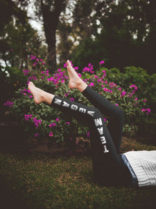 Team Vegan Yoga Leggings Black