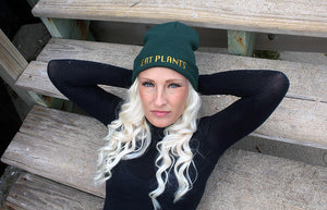 Vegan Knit Beanie Green